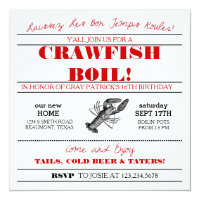 graphic about Crawfish Boil Invitations Free Printable titled Crawfish Boil Invites Zazzle
