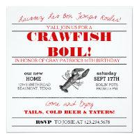 graphic about Crawfish Boil Invitations Free Printable titled Crawfish Boil Invites Zazzle