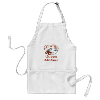 Crawfish Queen Apron, add name Adult Apron