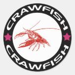 crawfish-ring (red-1) 丸形シールステッカー