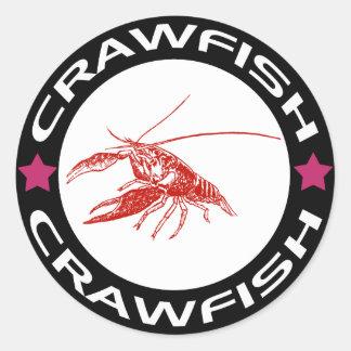 crawfish-ring (red-1) classic round sticker