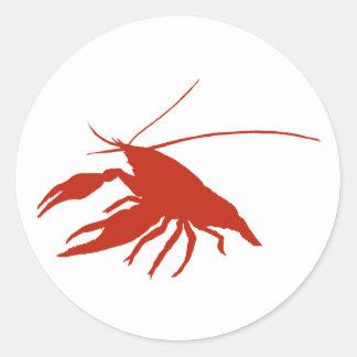 crawfish s silhouette Red Sticker