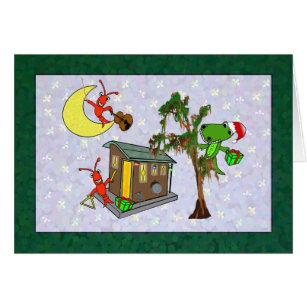 Cajun christmas cards greeting photo cards zazzle crawfish santa alligator cajun bayou christmas card m4hsunfo