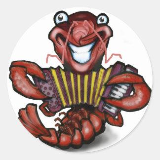 Crawfish Round Stickers