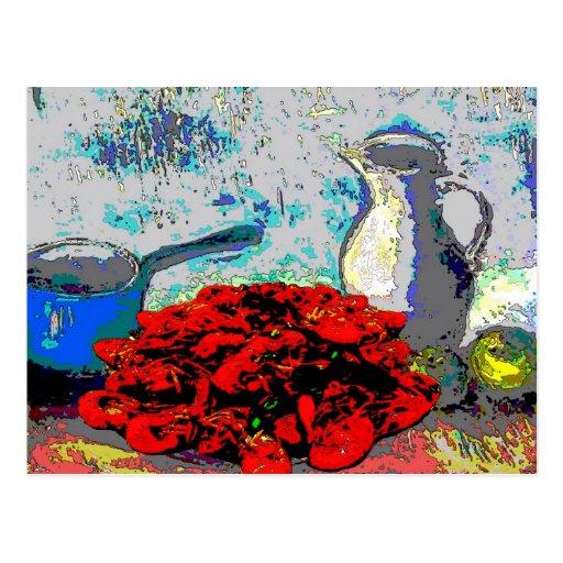 Crawfish Still Life, Fauvism Postcard
