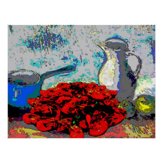 Crawfish Still Life, Fauvism Poster