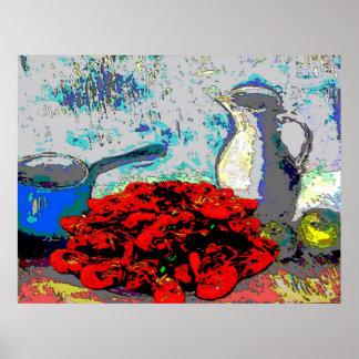 Crawfish Still Life, Fauvism Poster