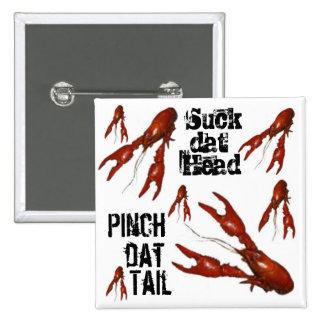crawfish suck-dat-head pinch-dat-tail button