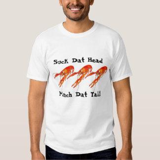 crawfish suck dat head pinch dat tail t shirt