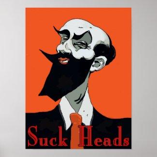 Crawfish: Suck Heads, smiling man, Poster