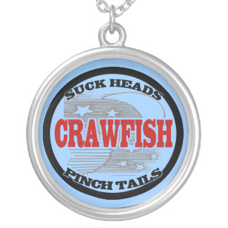 Crawfish Water Meter Round Pendant Necklace