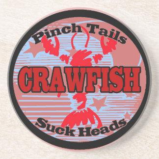 Crawfish Water Meter Sandstone Coaster