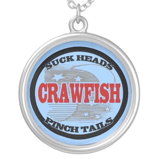 Crawfish Water Meter Silver Plated Necklace