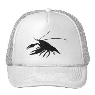 crawfish's silhouette (black) trucker hat