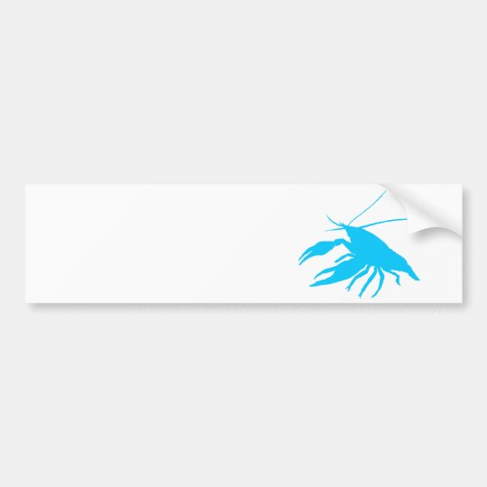 crawfish's silhouette (Light blue) Bumper Sticker