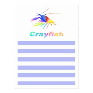 crawfish's silhouette postcard