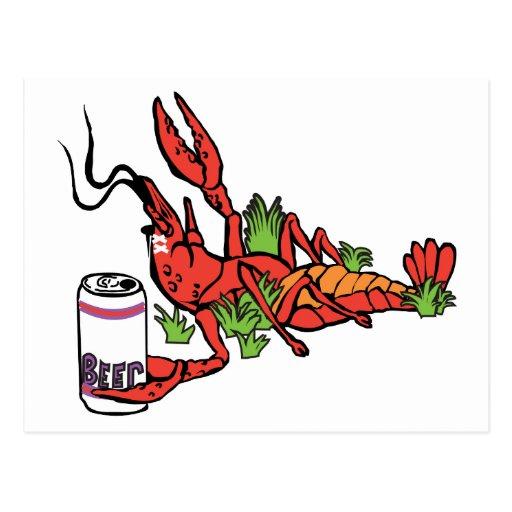 crawfishwithbeer2 tarjeta postal
