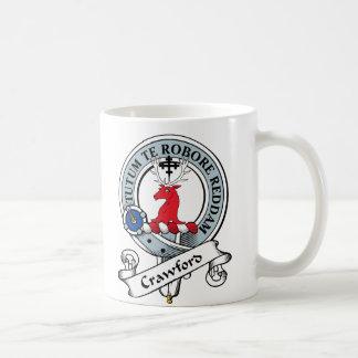 Crawford Clan Badge Classic White Coffee Mug
