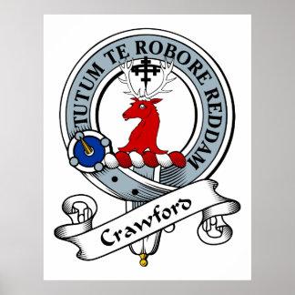 Crawford Clan Badge Poster