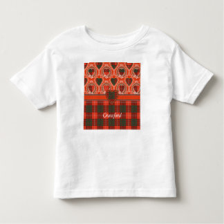 Crawford clan Plaid Scottish tartan Toddler T-shirt