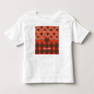 Crawford clan Plaid Scottish tartan Toddler T-shirt