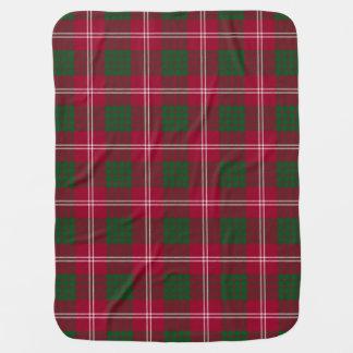 Crawford Clan Tartan Plaid Pattern Swaddle Blanket