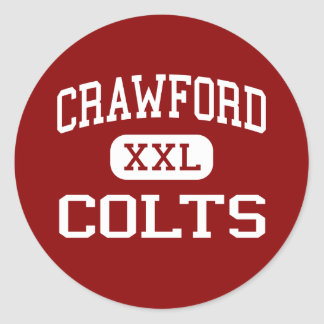 Crawford - Colts - High - San Diego California Stickers