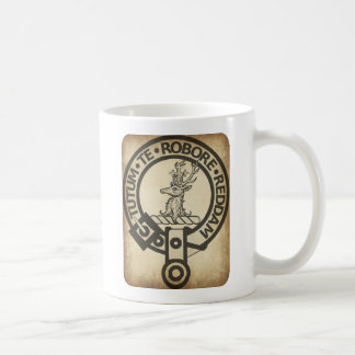 Crawford Crest Badge Antique Coffee Mugs