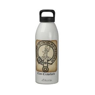 Crawford Crest Badge Antique Reusable Water Bottle