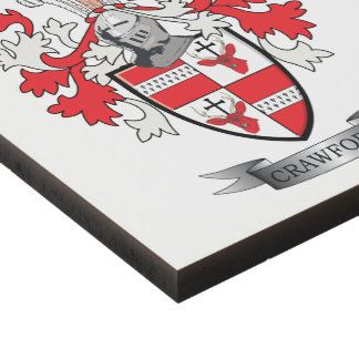 Crawford Family Crest Coat of Arms Panel Wall Art
