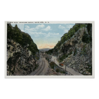 Crawford Notch View of the Double Gate Poster