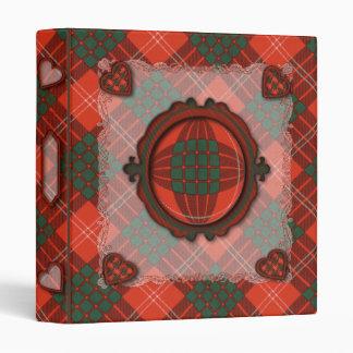 Crawford Scottish clan tartan Binder