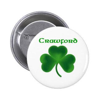 Crawford Shamrock Pinback Button