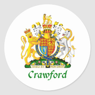 Crawford Shield of Great Britain Classic Round Sticker