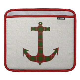 Crawford Tartan Plaid Anchor iPad Sleeve