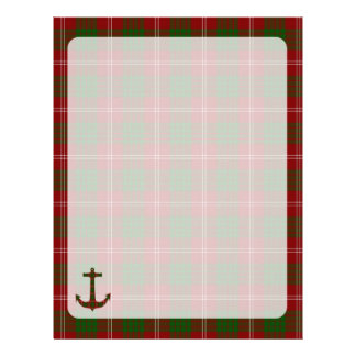 Crawford Tartan Plaid Anchor Letterhead