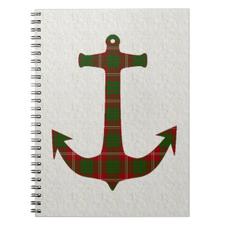 Crawford Tartan Plaid Anchor Notebook
