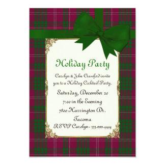 Crawford Tartan Plaid Custom Holiday Party Card