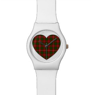 Crawford Tartan Plaid Heart Watches