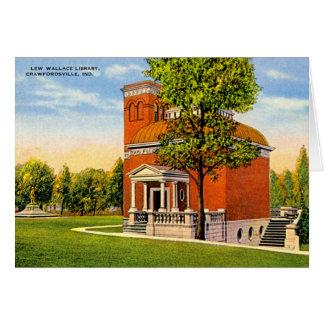 Crawfordsville, biblioteca de Indiana Lew Wallace Tarjeta De Felicitación