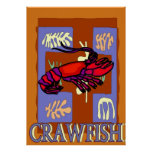Crawfrish After Matisse Poster at Zazzle