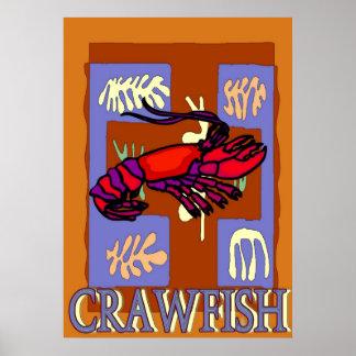 Crawfrish después de Matisse Poster