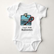 Crawl Walk Badminton Baby Bodysuit