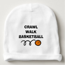 CRAWL WALK BASKETBALL baby beanie hat