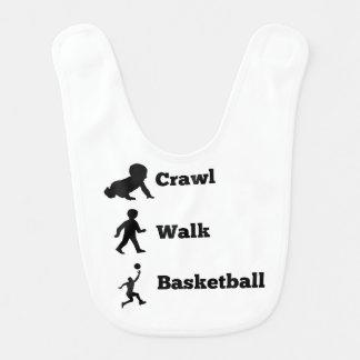 Crawl Walk Basketball Bib