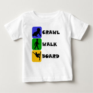 Crawl Walk Board Baby T-Shirt