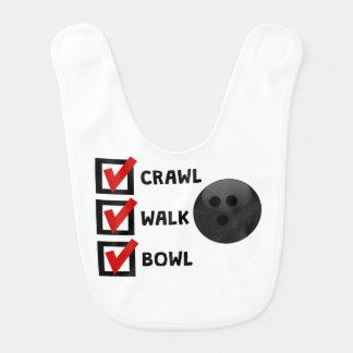 Crawl Walk Bowl Baby Bib