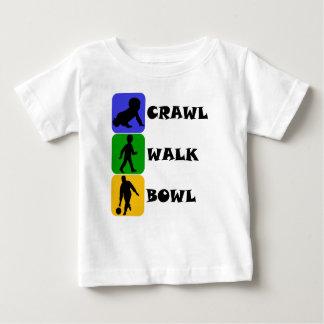 Crawl Walk Bowl Baby T-Shirt
