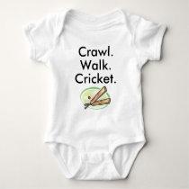 Crawl Walk Cricket Baby Bodysuit