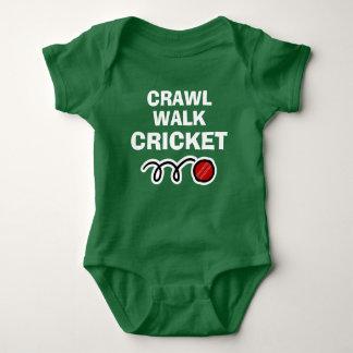 CRAWL WALK CRICKET sports bodysuit for new baby